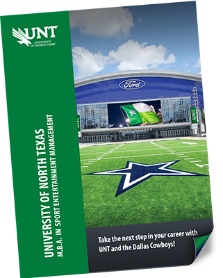 UNT MBA Sport Entertainment Management brochure