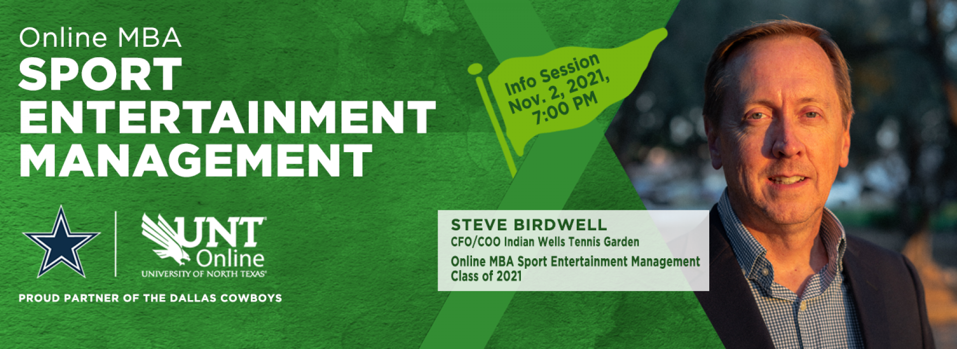MBA in Sport Entertainment Management - info session november 2, 7pm