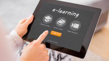 digital tablet with online courses