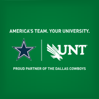 America's Team, Your University. UNT is a Proud Partner of the Dallas Cowboys.